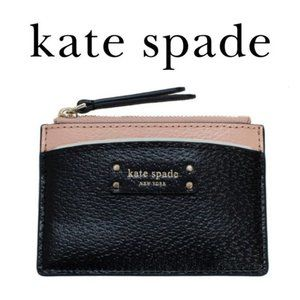 Kate Spade Jeanne Small Black Leather Card Holder